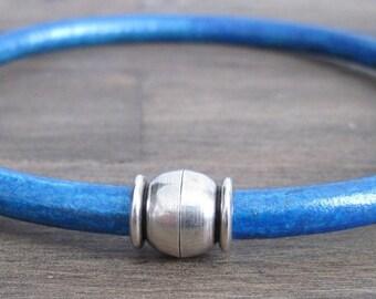 Round Leather Bracelet - Turquoise