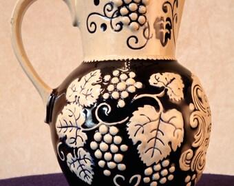 GERMAN Blue/Gray Ceramic Pitcher