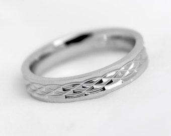 4mm 925 Sterling Silver, Infinity Wedding Band, Classic Matching  Wedding Ring, Infinity Pattern Ring, Infinity Design ring 925 Silver, 8273