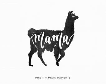 "2x2 ""Mama Llama"" Stamp - Clear - Ready to Ship"