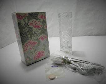 Avon Fostoria Crystal Bud Vase and Scented Carnation