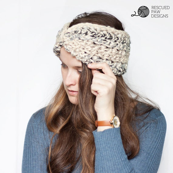 PDF Crochet Pattern - Moonlight Ear Warmer