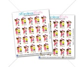20 Interracial Couple Stickers, Date Night Stickers for Erin Condren functional stickers, happy planner stickers, kikki k planner #SQ00572