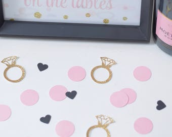 Pink, Black and Gold Bridal Shower Decoration - Confetti for Bridal Shower - Bachelorette party decoration