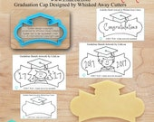 The LilaLoa Graduation Cap Plaque Designed by LilaLoa & Whisked Away Cutters - *Guideline Sketch to Print Below*
