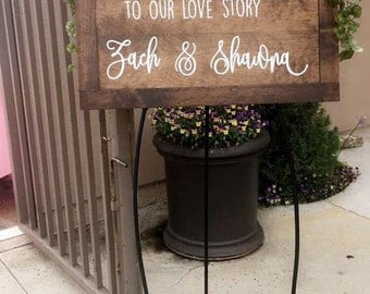 Wedding Welcome Sign, Reception decoration