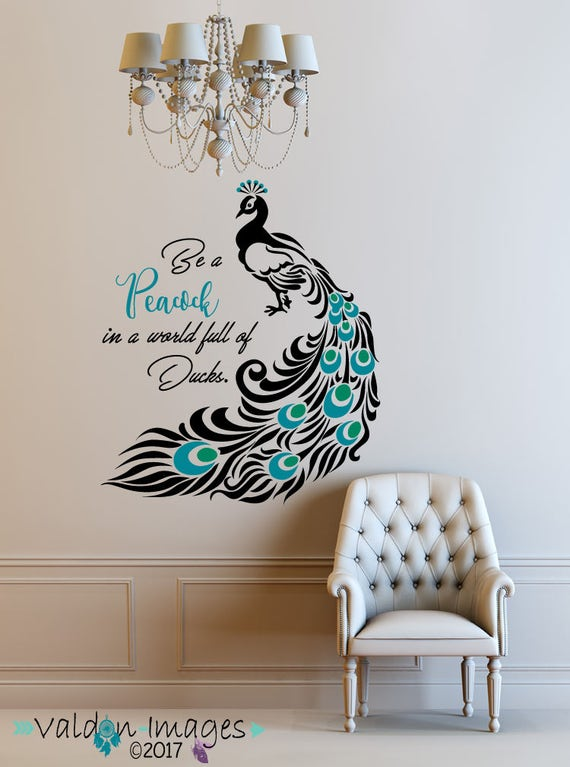 Peacock Quote Decal Peacock Feathers Peacock Decor Peacock