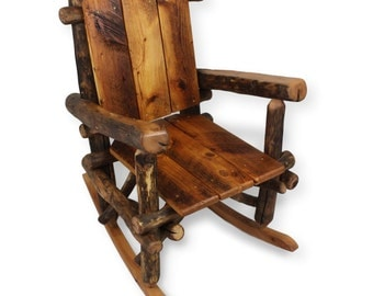 Rustic Rocking Chair, Reclaimed Wood Chair, Porch Furniture, Rocking Chair,  Rustic Living