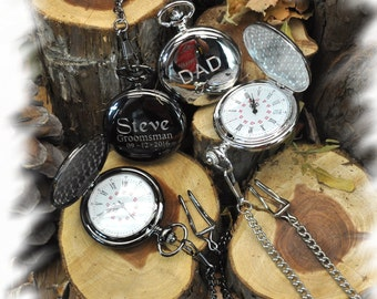 Pocket Watch , Groomsmen Gift , Engraved Pocket Watch, Monogrammed Watch, Gift for Groom, Steampunk pocket watch, personalized pocket watch