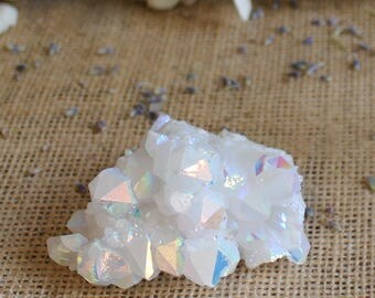 Angel Aura Crystal Cluster Aura Stone Spiritual Gift Crystals and Stones Bohemian Decor Rough Rainbow Crystal Cluster
