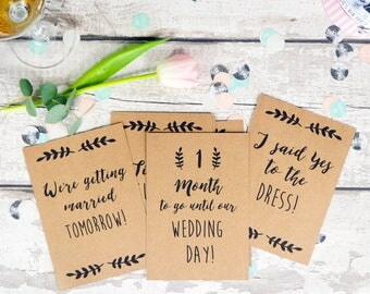 Wedding Milestone Cards | Engagement gift | 14 cards including countdown and important event cards
