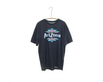 ARIZONA Iced tea t-shirt RARE tea shirt graphic tee black 90s tshirts gifts for foodies bartender gifts burnout tee vintage t-shirts RARE