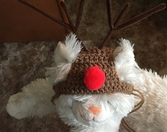 Rudolph the Red Nosed Reindeer Cat Hat