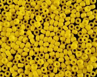 10 Grams of Miyuki Japanese Seed Beads Size 8/0 Gloss Buttercup Yellow