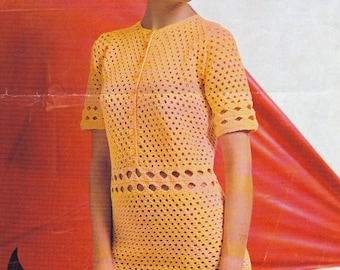 PDF crochet dress vintage crochet pattern pdf INSTANT download pattern only pdf openwork mini