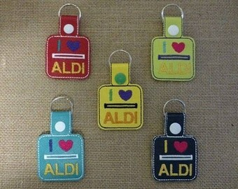 Quarter Keeper Keychain - I LOVE ALDI