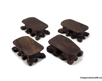 Base, stand, display, stand, stand for Snuff Bottles, Netsukes or figures, He-zhi wooden