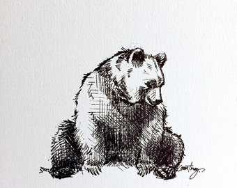 Bear- Collect Moments fine art paper print