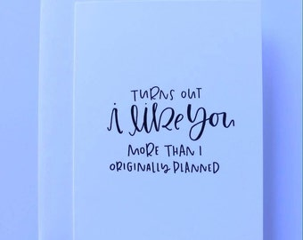 I like you || Hand lettered card