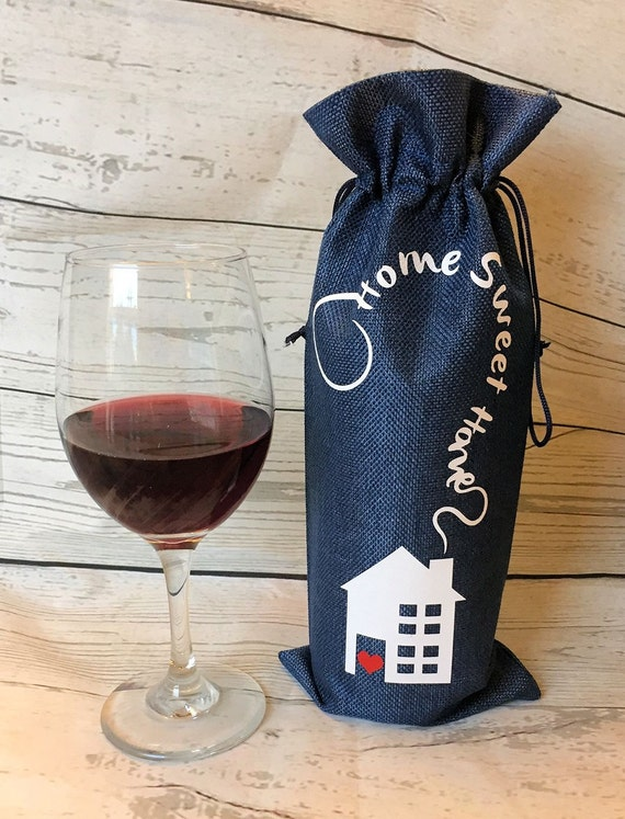 Wine gift bag,wine bag, housewarming gift, new home gift, realtor gift, wine lover gift, hostess gift
