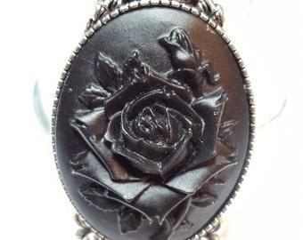 Black Rose Cameo