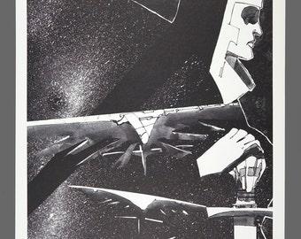 1978 Howard Chaykin Print Cody Starbuck Limited Edition 505/1000 Black & White Art 15 x 11