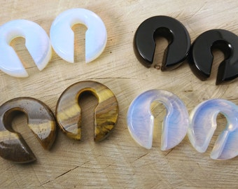 Stone keyhole weights light ear weights hangers