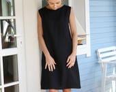 Japanese Style Linen Dress   Classic Linen Dress   Dress With Side Pockets   Dress With Open Back    Tunica dress   Little black dress.