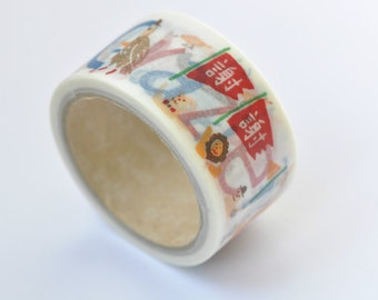 One Roll Lovely Multilingual Thank You  Washi Tape /Japanese Masking Tape 28mm wide x 5m long (1.1 inches X5.5 yards) No. 12203