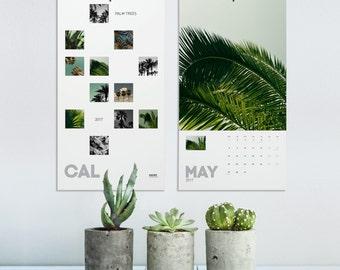 Wall Calendar, Palm Tree Calendar 2018, Tropical Calendar, Nature Photography, Minimalist Calendar, Wall Decor, Office Decor