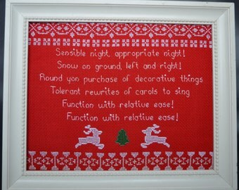Sensible Night Appropriate Night - Cross Stitch Pattern inspired by Community!