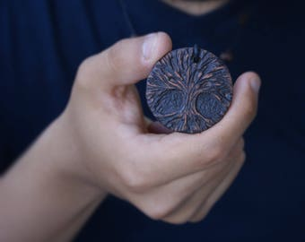 FAMILY TREE Necklace Necklace Ceramic Jewelry Charm necklace Tree Pendant Tree Jewelry Statement Christmas GIFTS Gift for Nature Lovers