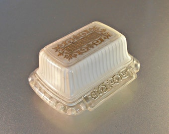 Art Deco Celluloid Ring Box, Cream Clear Gold, City Jewelers Chicago, Wedding Engagement