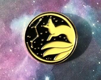 Vulpecula Fox Constellation pin Kitsune