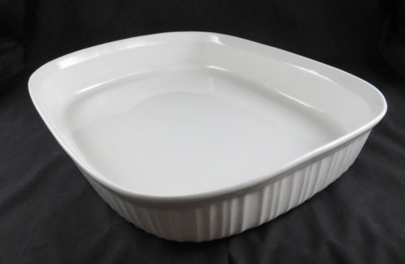 Corning Ware French White Open Roaster 13 7 8 X 11