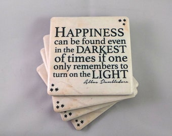 Harry Potter Quote Coasters. 22 To Choose From. Make Your Own Set of Four. Felt Backed, Set of Four, Finished with Twine Bow.