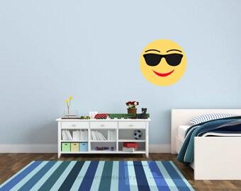 Sunglasses Emoji - Emoji Decal - Emoji Party - Social Media Party - Emoji Birthday - Emoji Decor - Social Media Decal - Emoji Decorations