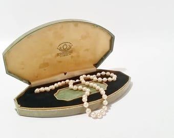 Vintage Necklace Box, Vintage Velvet Jewelry Box, Velvet Jewelry Gift Box