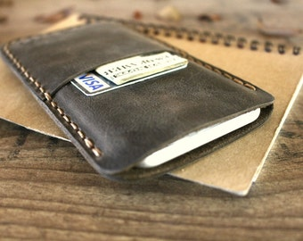 Leather iPhone 7 Case with Card Holder, iPhone 7 Leather Wallet Case, Initial  iPhone 7 Case, Leather iPhone Cases - I4738GR