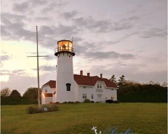 Antiqued Chatham Lighthouse ~ Cape Cod, Lighthouse Photography, Coastal Home Decor, Nautical, Photography, New England, Sunset, Artwork