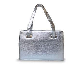 1960s Silver Handbag Vintage Purse