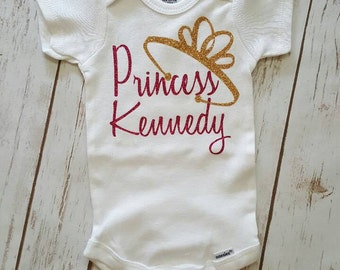 Baby girl outfit little princess baby clothes grow with me first birthday one year old girl outfit birthday outfit princess onesie crown negle Image collections
