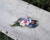 Flower hair comb  Wedding hair comb Floral hair comb Bridal hair comb Hairstyle Bridal hair fashion accessories