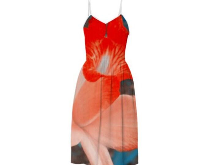 Solid Color Corolla Series Summer Dress - Sleeveless Sundress Braces Floral Dress Suspender Dress Sling Dress CustomMade Dress