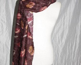 Stole - scarf - autumn flowers - fairy