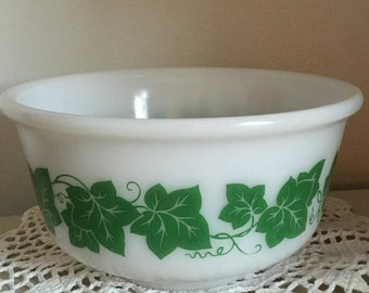 Hazel Atlas MILK GLASS ivy bowl