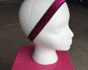 Fuchsia Glitter Headband