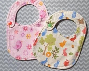 Baby Bib Sewen in the Embroidery Hoop
