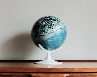 Vintage Lunar Tin Globe J Chein Company // Moon Globe with Stand