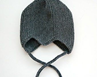 The Scandi Baby Pixie hat in Merino wool - size 3M